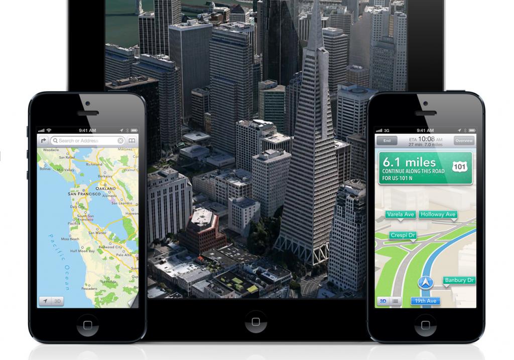 Карты Apple в iOS 6