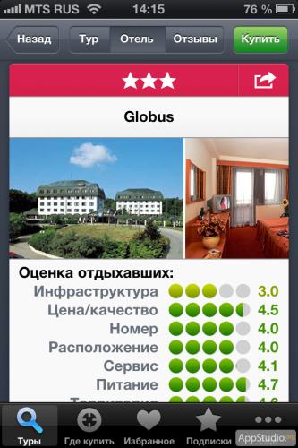 Турстанок из App Store