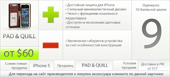 Характеристики чехла Little Pocket Book для iPhone 5