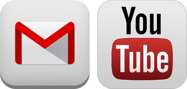 Обновление Gmail и YouTube
