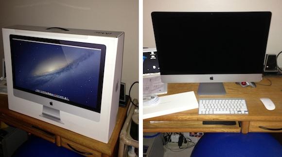 Новый 27-дюймовый iMac в упаковке