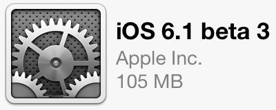 iOS 6.1 Beta 3