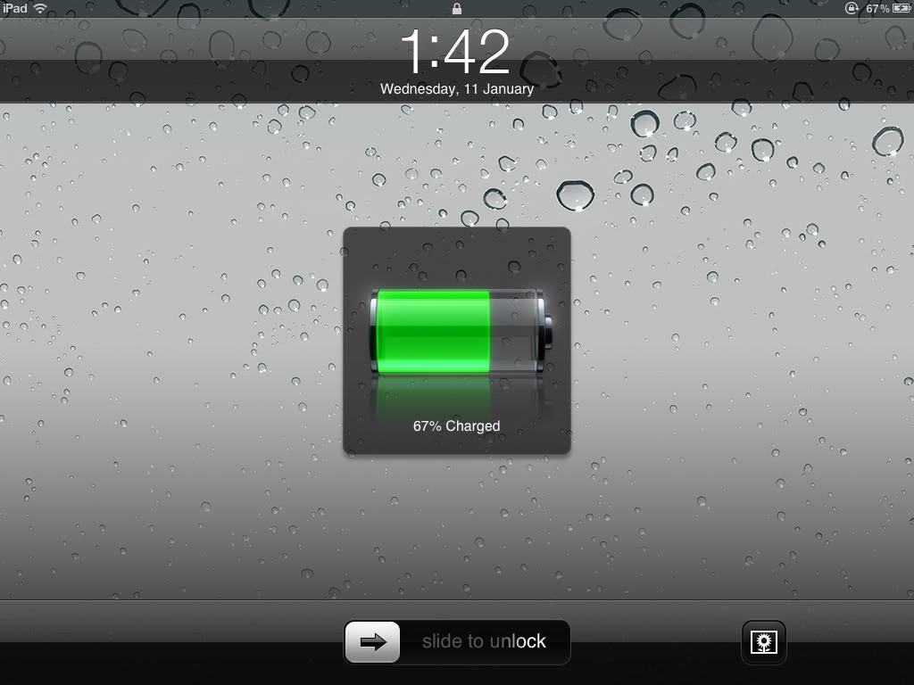 Про зарядку iPad от ноутбука