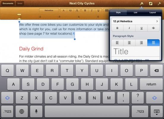 Pages 1.7 для iOS