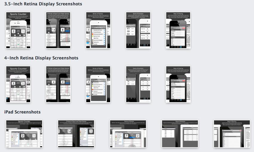 Скриншоты в App Store