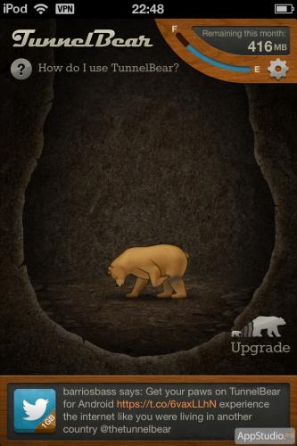 iOS приложение Tunnelbear