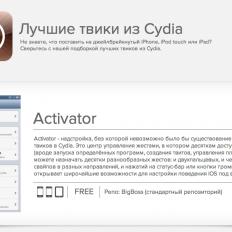 Лучшие твики из Cydia