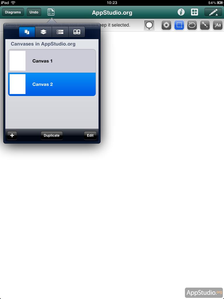 Настройка документа в OmniGraffle