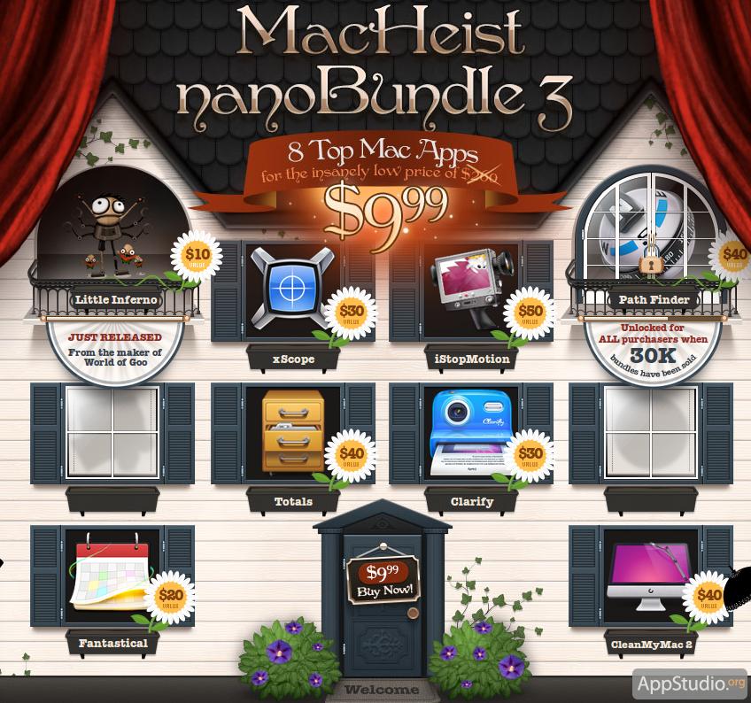 MacHeist nanoBundle 3 - 8 программ для OS X стоимостью $260 всего за $9.99
