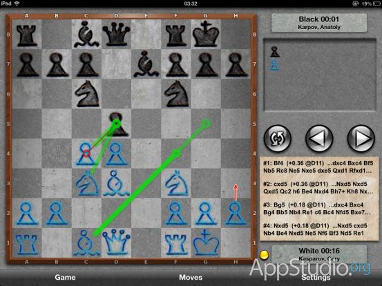 Chess Pro Анализ на 10 полуходов