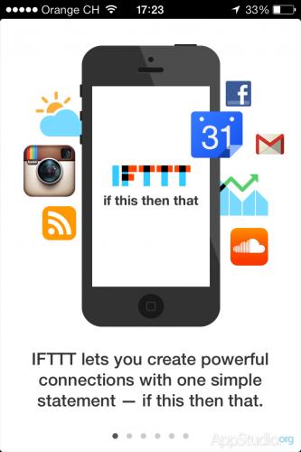 IFTTT Начальная страница