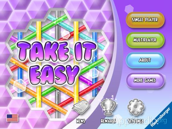 Take It Easy Главный экран