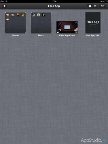 Files App Окно приложения