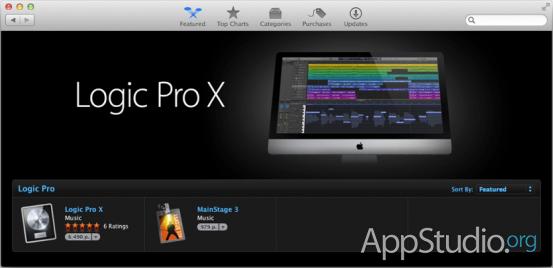Страничка Logic Pro X и MainStage 3 в Mac App Store. Logic Pro X стоит - $200, а MainStage 3 - $30. Весь дополнительный контент скачивается бесплатно с серверов Apple. Неплохая разница в цене в сравнении с 2009 годом.
