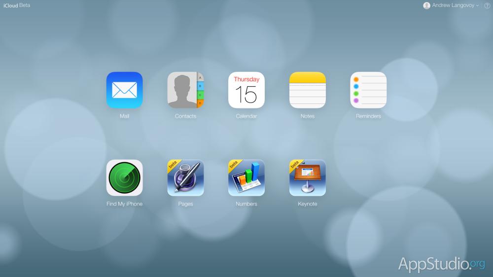 Новый дизайн iCloud.com