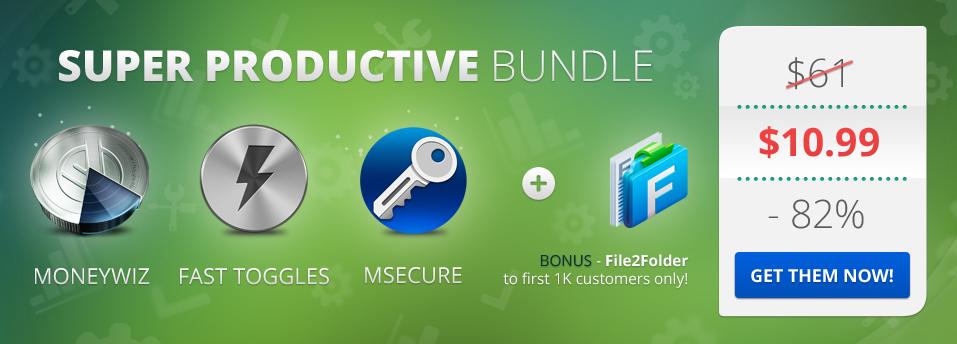 [Надо брать!] Super Productive Bundle – 3 программы для OS X стоимостью $61 за $10,99