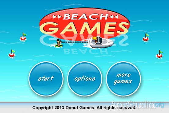 Beach Games Стартовый экран