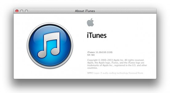 Apple выпустила OS X Mavericks Developer Preview 8 и iTunes 11.1