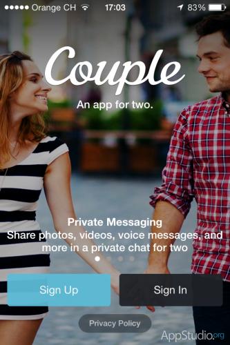 Couple - Стартовый экран