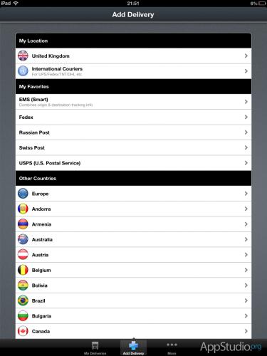 Posted — Список стран и избранные