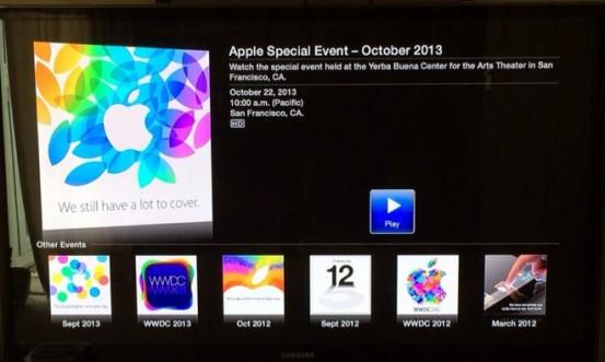 Видеотрансляция презентации Apple за 22 октября 2013