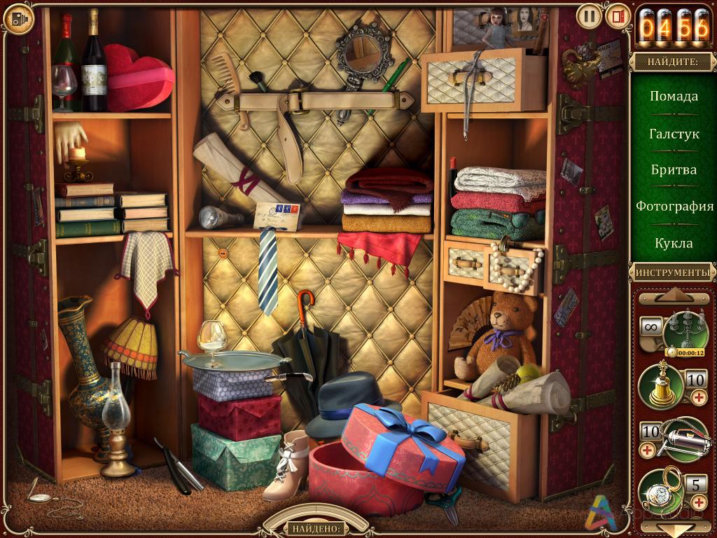Игра искать предметы онлайн на картинке