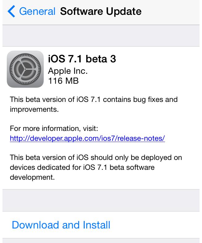 Официальную ios 7.1