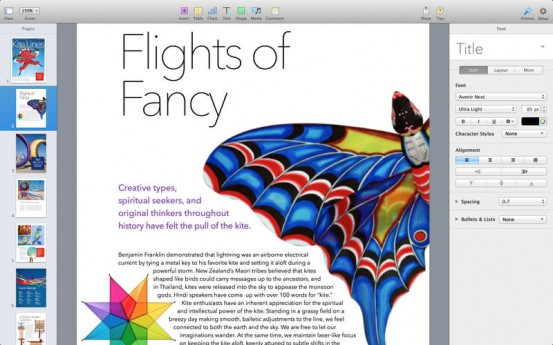 Pages для OS X