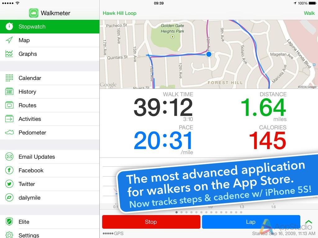 Walkmeter GPS Pedometer
