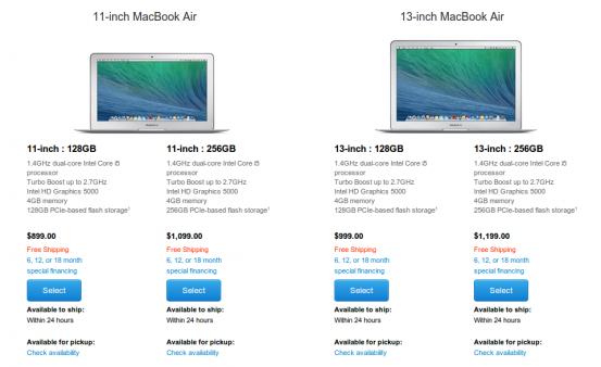 Новая линейка MacBook Air образца 2014 года