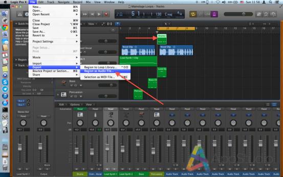 3.Expoting as Audio