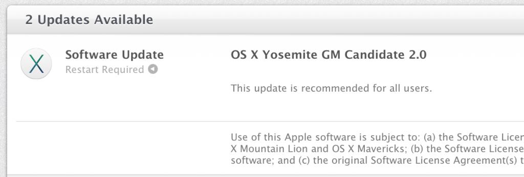 OS X Yosemite GM 2.0