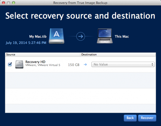 Capture disk recovery