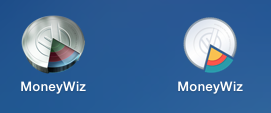 Иконки MoneyWiz для Mac версий 1 и 2