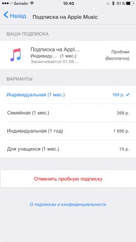 Подписка Apple Music