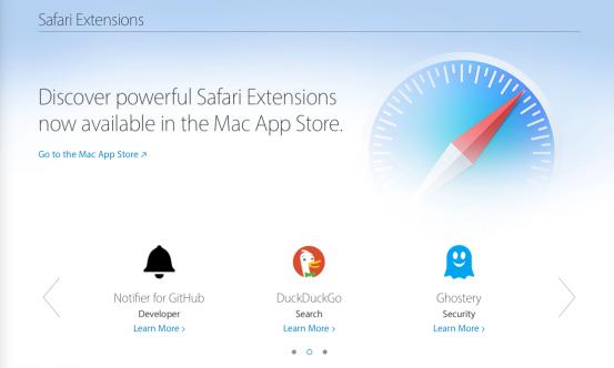 Apple обновила страницу Расширения для Safari, сфокусировавшись на