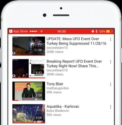 Приложение YouTube на iOS 11 перестало сильно разряжать батарею
