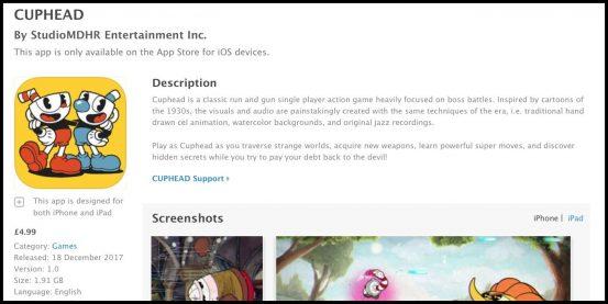 Поддельное приложение Cuphead для iOS наделало шуму в App Store и было уничтожено