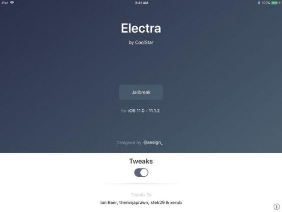 Вышла обновлённая утилита Electra для джейлбрейка iOS 11.1.2–11.3 (beta)